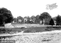 Easby, Abbey, From The River 1893