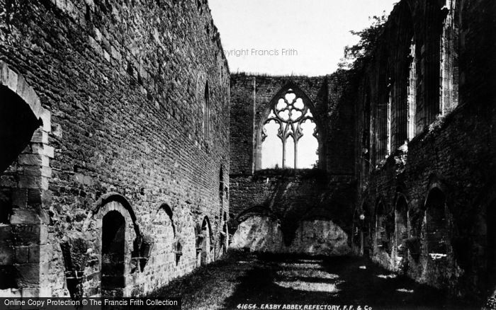 Photo of Easby, Abbey, Refectory 1898