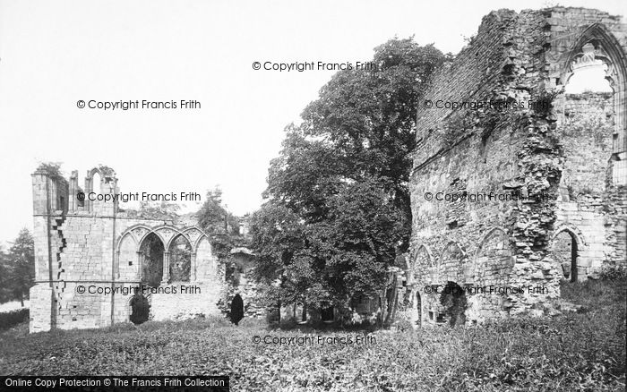 Photo of Easby, Abbey, South 1893