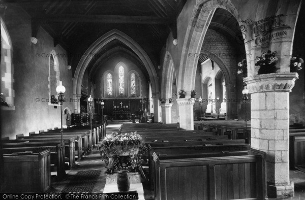 Photo of Easebourne, St Mary's Church Interior 1898