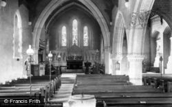 Easebourne, St Mary's Church Interior 1906
