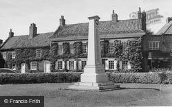 Easingwold, The War Memorial c.1960