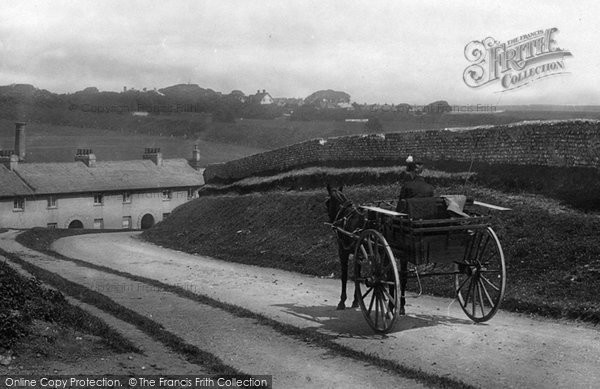 Photo of East Blatchington, A Horse And Trap 1891