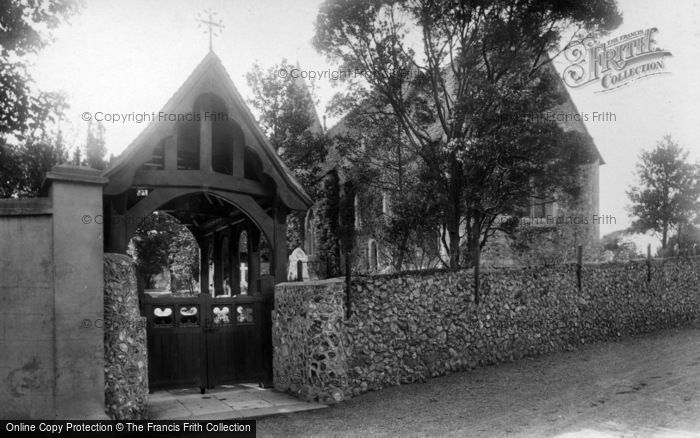 Photo of East Blatchington, St Peter's Church And Lychgate 1897