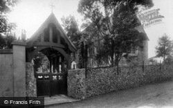 East Blatchington, St Peter's Church And Lychgate 1897