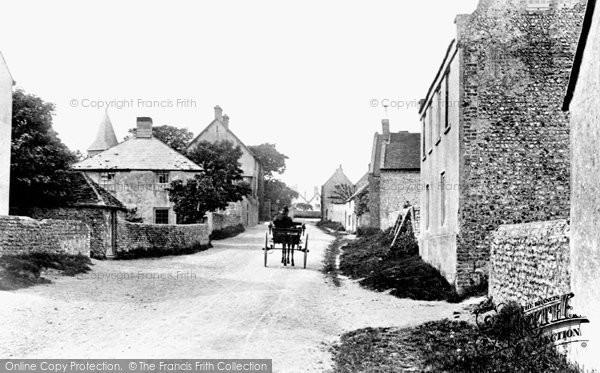 Photo of East Blatchington, The Village 1891