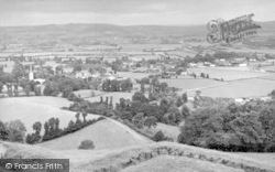 East Brent, From Brent Knoll c.1955