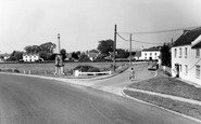 East Brent, the Memorial and Brent Knoll Inn c1960