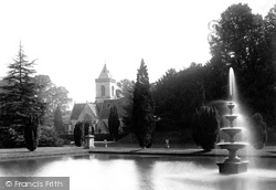East Budleigh, Bicton Church And Fountain 1890