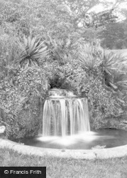 East Budleigh, Bicton House Waterfall 1890