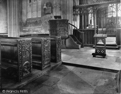 East Budleigh, Church, Sir Walter Raleigh's Pew 1928