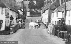 East Budleigh, High Street c.1955