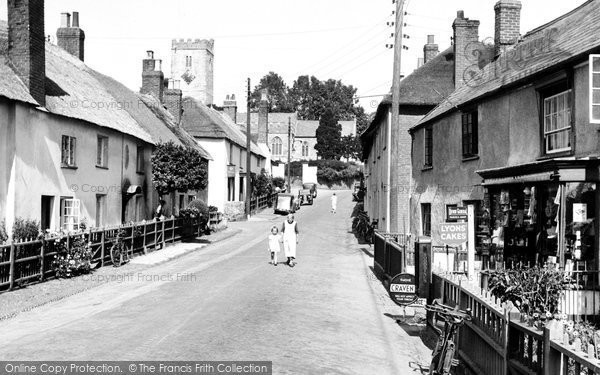 East Budleigh, the Village Shop 1938