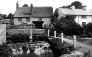 East Budleigh, the Waterfall 1928