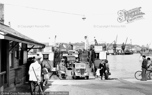 East Cowes, The Floating Bridge c.1955