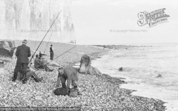 Photo of East Dean, Angling At Birling Gap c.1955