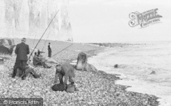 East Dean, Angling At Birling Gap c.1955