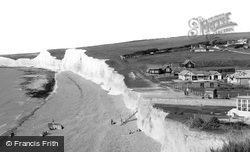 East Dean, Birling Gap Hotel And The Beach c.1960