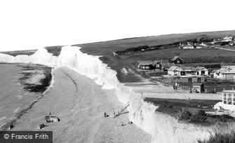 East Dean, Birling Gap Hotel and the Beach c1960