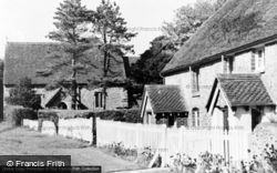 East Dean, Church And Cottages c.1955