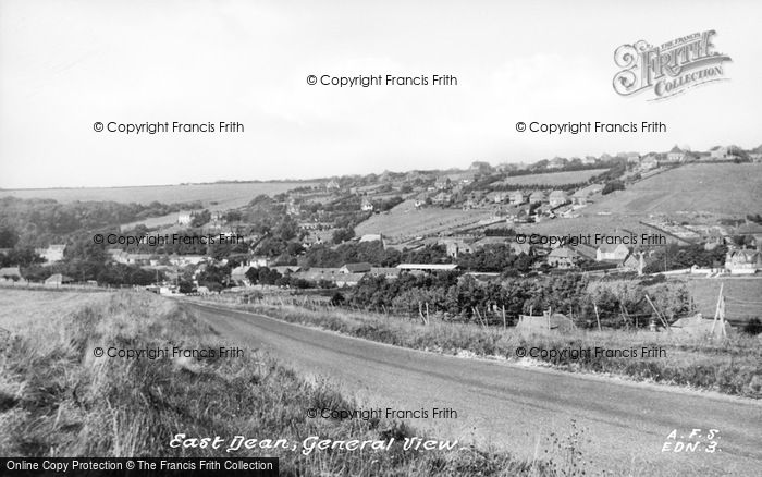 Photo of East Dean, General View c.1955