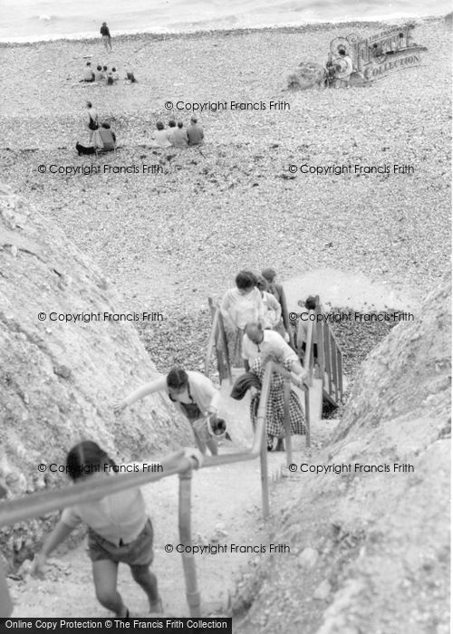 Photo of East Dean, The Steps, Birling Gap c.1960