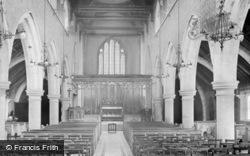 St Mary's Church Interior 1914, East Grinstead