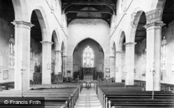 St Swithun's Church Interior 1914, East Grinstead