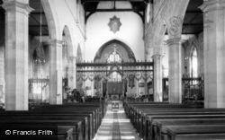St Swithun's Church Interior c.1965, East Grinstead