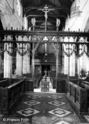 St Swithun's Church, Screen c.1965, East Grinstead