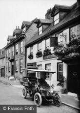 East Grinstead, Ye Dorset Arms, High Street and a Wolseley 10 HP Car 1904