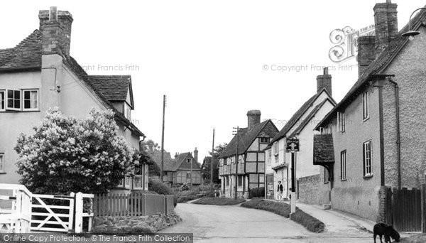 East Hagbourne, Main Road c1955