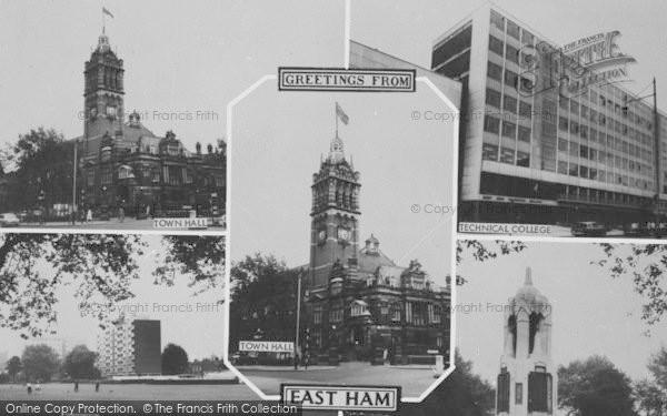 Photo of East Ham, Composite c.1965