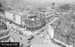High Street From Town Hall Tower c.1965, East Ham