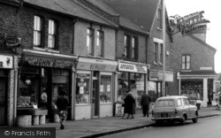 Parade Of Shops In Barking Road c.1965, East Ham