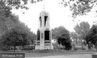 East Ham, the Monument, Central Park c1965