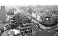 East Ham, view from Town Hall Tower c1965