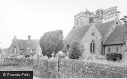 The School And Church c.1960, East Hoathly