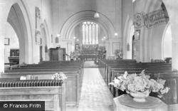 East Knoyle, Church Interior c.1955