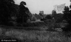 East Knoyle, St Mary's Church And School c.1955
