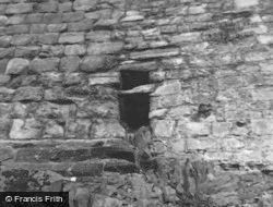 Hailes Castle Wall Showing Masonry Difference 1954, East Linton