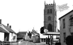 East Lyng, Church Farm And The Church c.1960