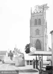 East Lyng, Church Farm, Somerset Motors And Church c.1960