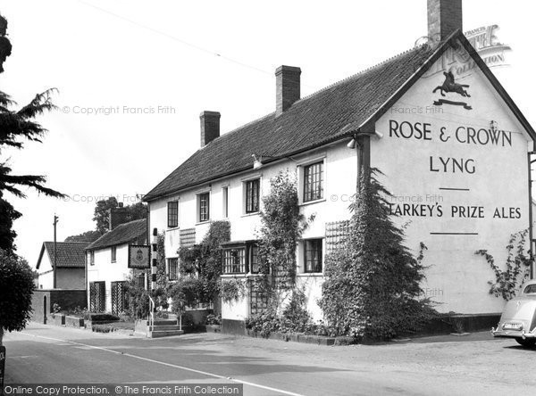 East Lyng, the Rose and Crown c1960