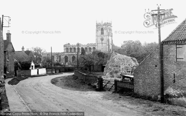 East Markham, the Village and St John the Baptist Church c1955