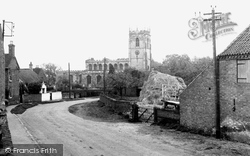 The Village And St John The Baptist Church c.1955, East Markham
