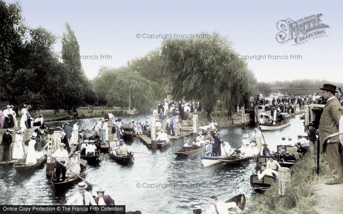 Photo of East Molesey, 'coming Over The Rollers' 1896
