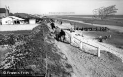 East Wittering, Cliff Walk c.1955