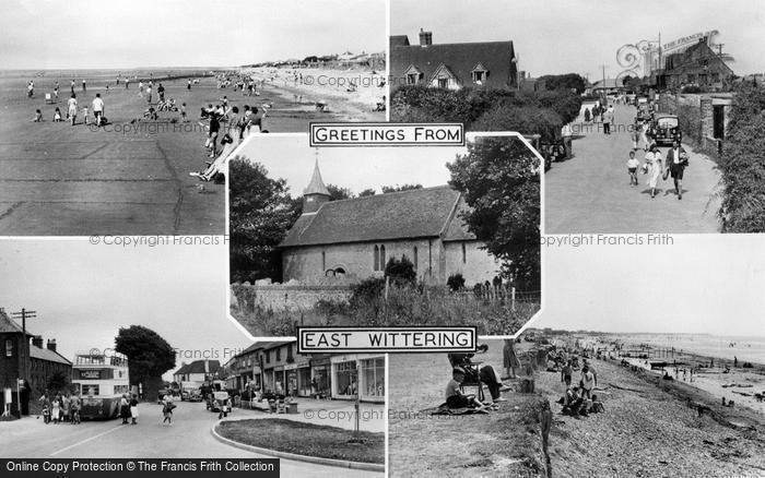Photo of East Wittering, Composite c.1955