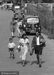 East Wittering, Off To The Beach c.1950